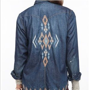 UO BDG Embroidered Denim Shirt